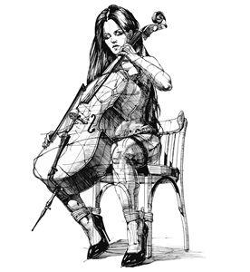 Виолончелистка. Cellist.