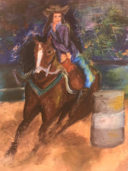 Barrel Racer - Cam Ferrell Art
