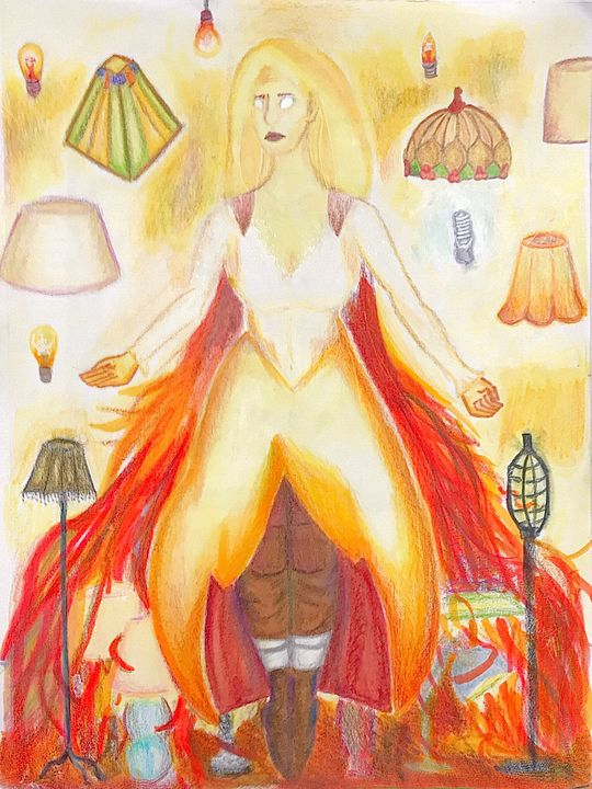 Lady of the Lamps - Cam Ferrell Art