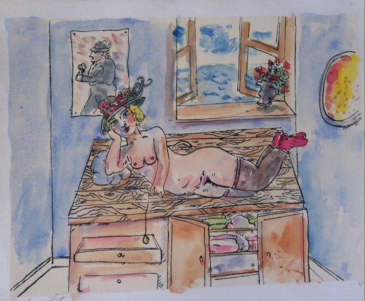 Erotic Nude Painting Original Art Oi - BENBENART