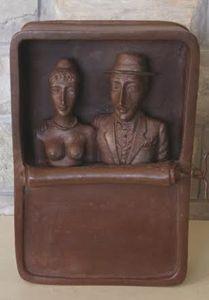 Love Couple Sculpture Art Bronze Sta - BENBENART