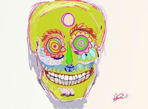 Carnival skull mask