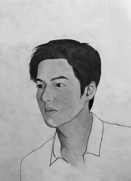 Lee Min Ho Portrait Drawing - nsart