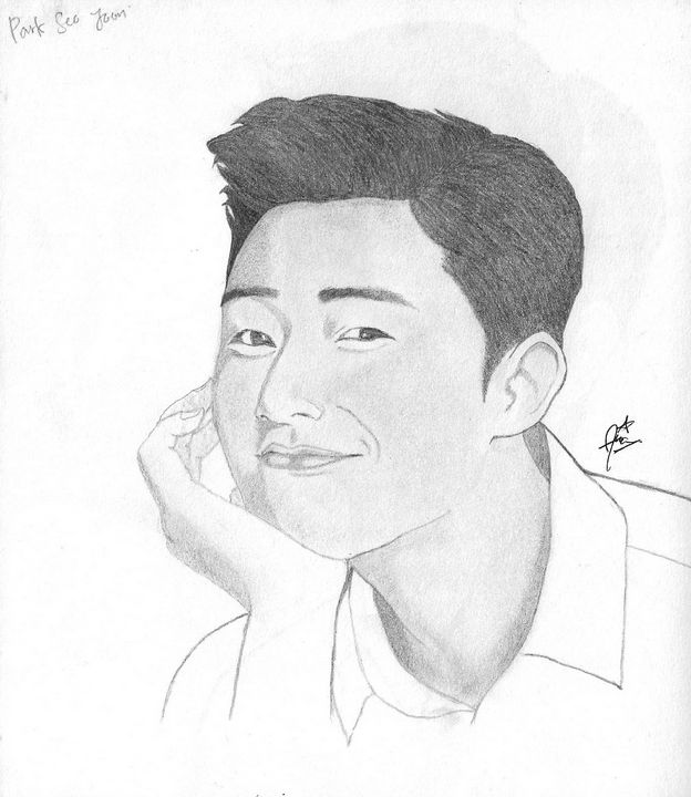 Park Seo Joon Drawing - nsart
