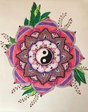 Original colorful  mandala drawing