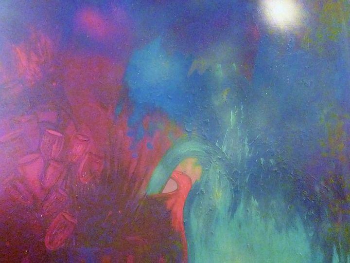 Blue abstract - janice birks