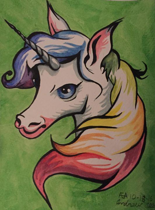 Rainbow unicorn - Art By Albin