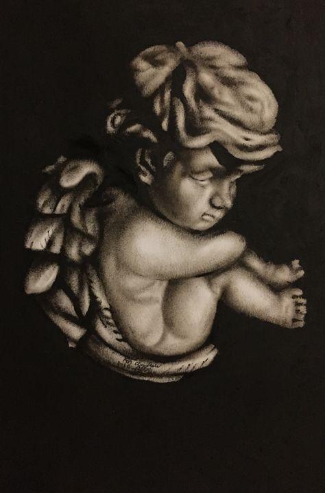 Thoughtful angel - Art By Albin