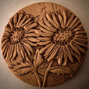 Sunflower coasters x4
