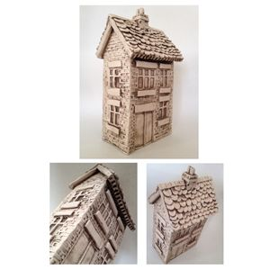 Ornamental ceramic cottage