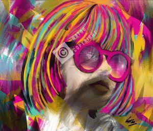 Femme multicolore