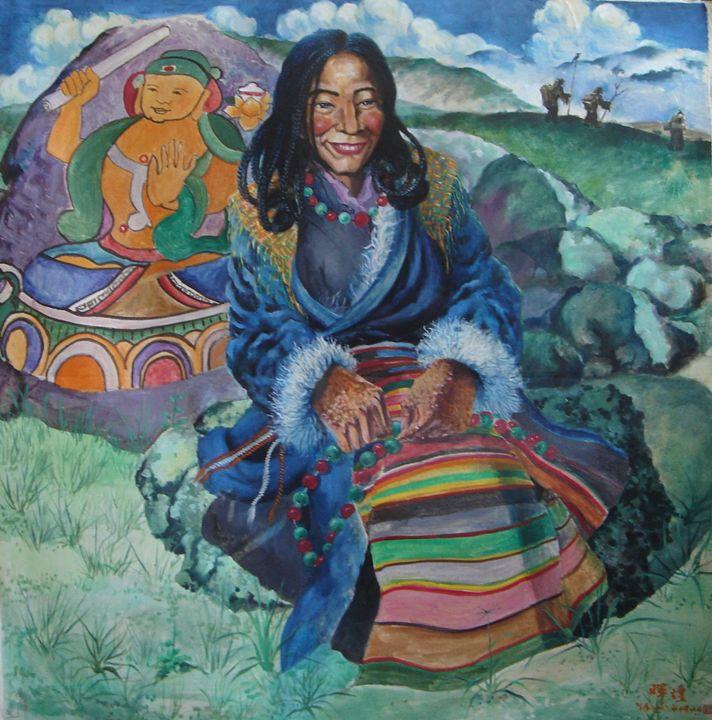 By The Lugu Lake - Billowing Inkstone Gallery