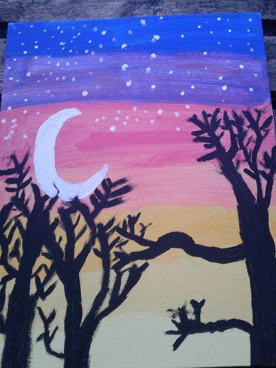 first painting tree - Kristi Matthew