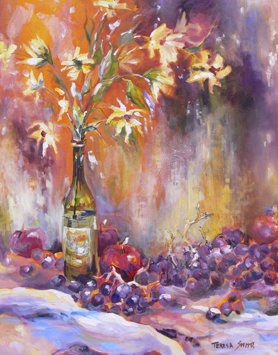 vase and grapes - ArtByTeresa