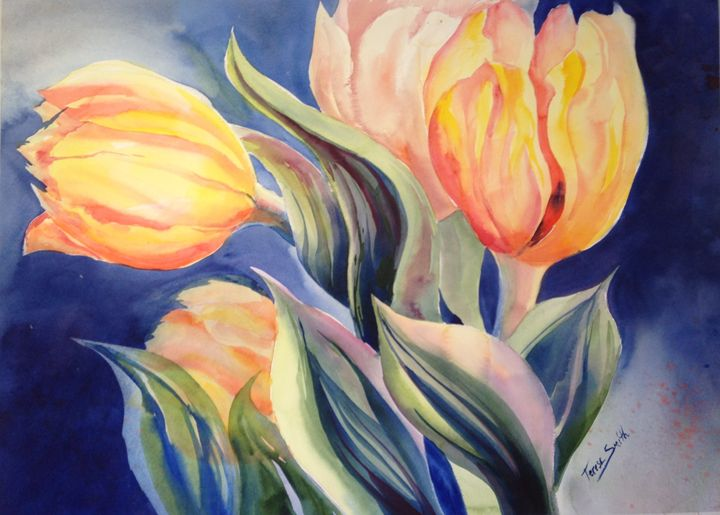 yellow tulips - ArtByTeresa