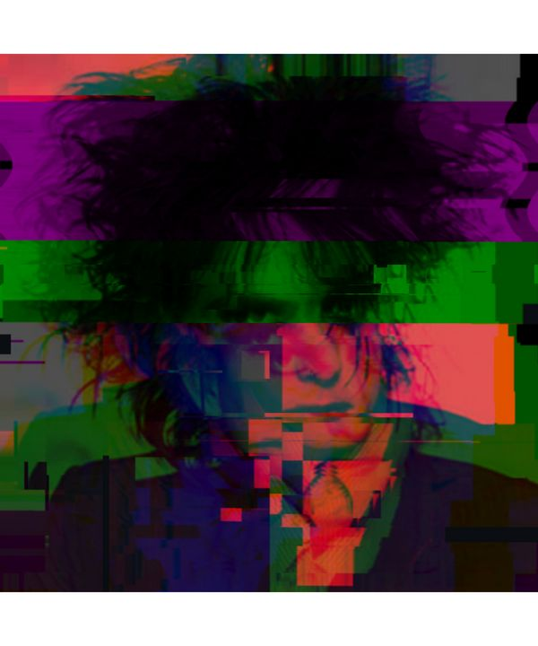 Robert Smith Pixelated Abstract Art - red-amber65