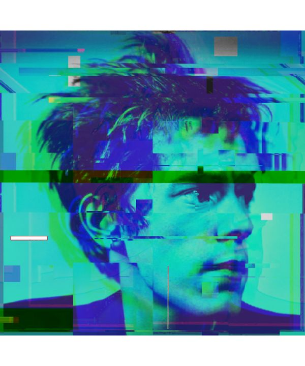 John Lydon Pixelated Abstract Art - red-amber65