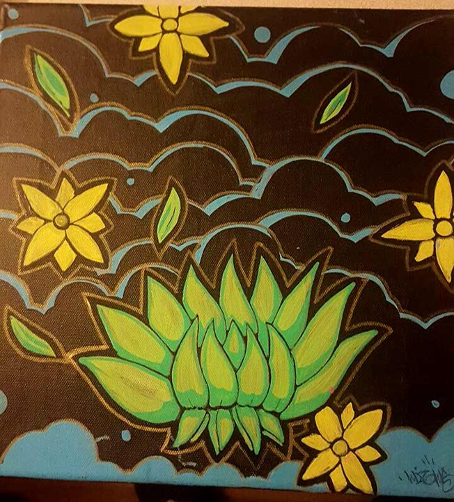 green lotus - Highs Art Designs