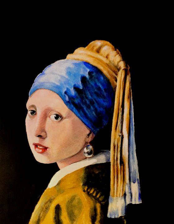 vermeer girl with pearl earing - indiecarving