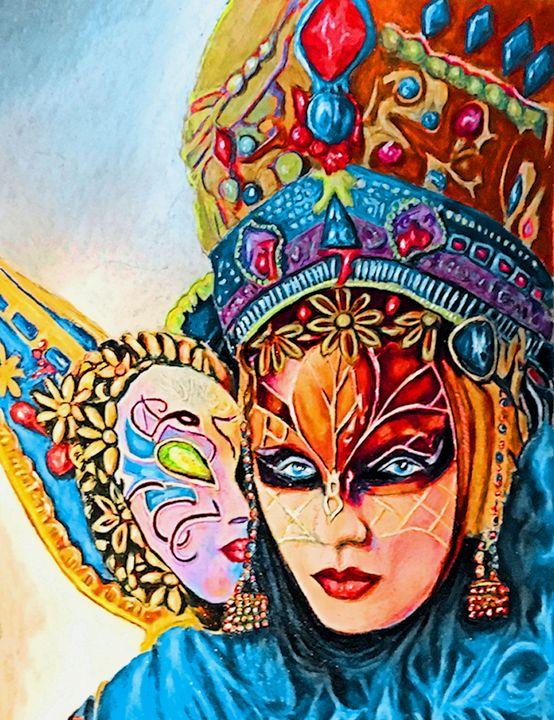 Venetian mask - indiecarving