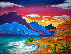 Lake Mojave Sunset