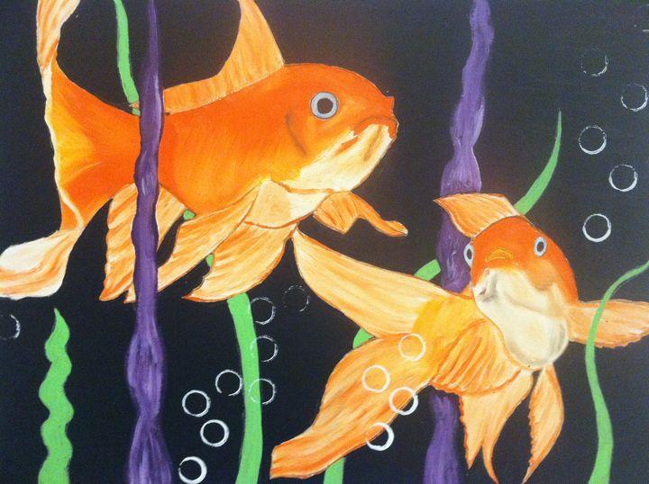 TWO GOLD FISH - J.Clay Originals