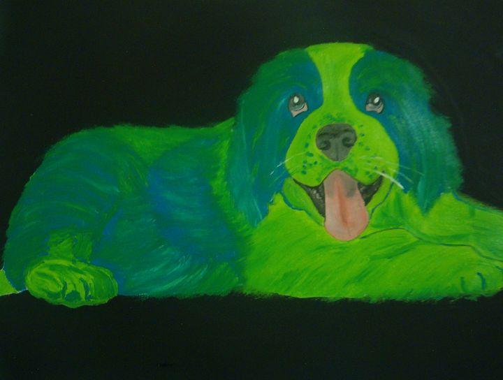 DOG...YAP!! I'M   GREEN..ST BERNARD - J.Clay Originals