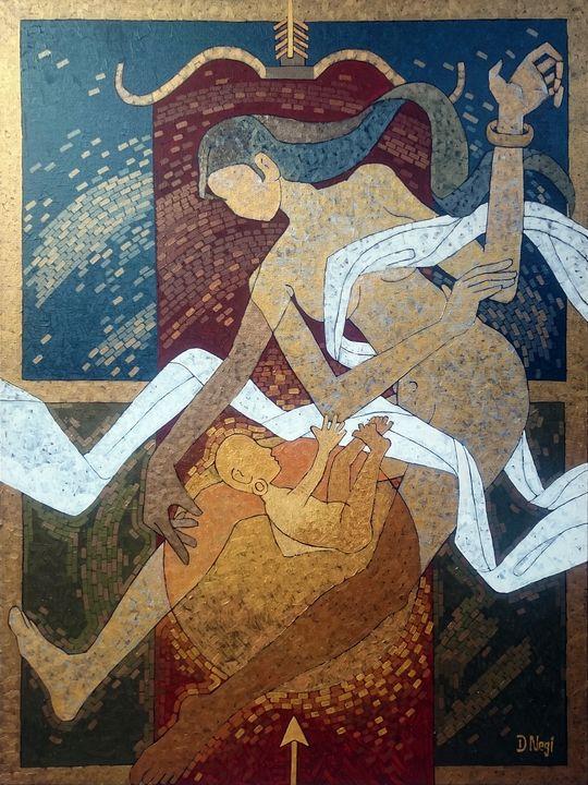 THE GOLDEN BOON ~ BIRTH OF KARNA - ART DEVENDRA NEGI