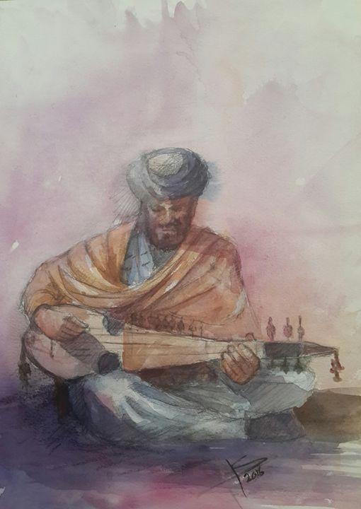 Afghan ruhbab player - Khyber Hashimi