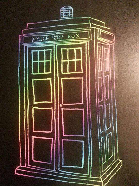 Rainbow TARDIS - Scraperfun