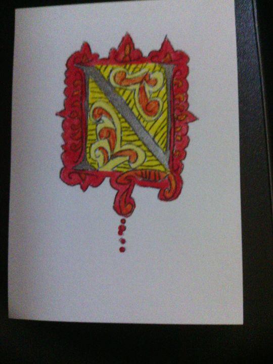 """Monogram of letter """"N"""" - Scraperfun"""
