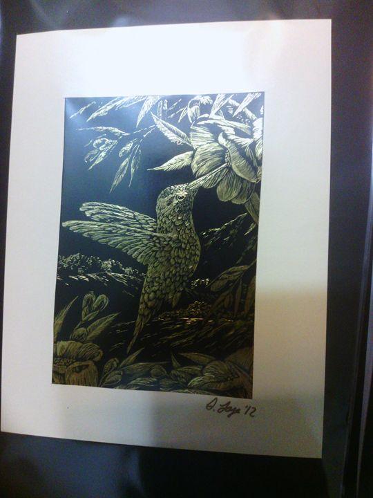 Gold Hummingbird - Scraperfun