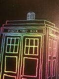 "11""x 14"" Rainbow TARDIS"