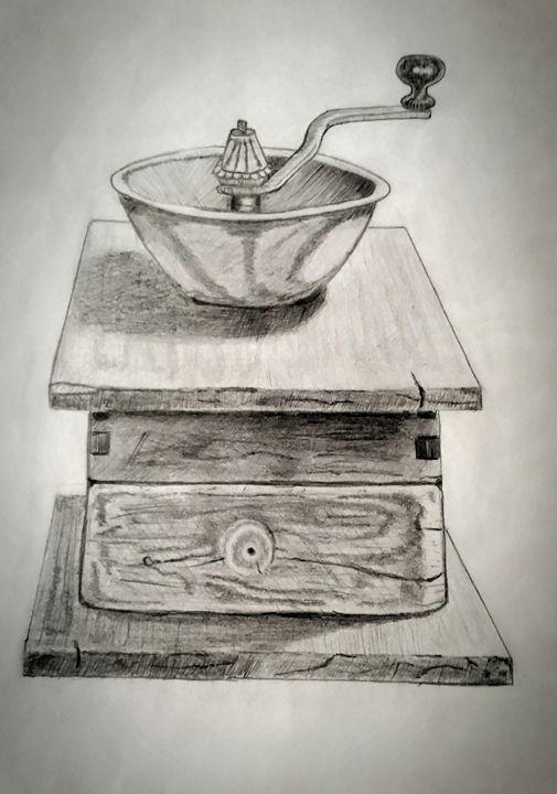 Coffee grinder. - A malins sketch art.