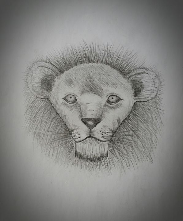 king of the jungle. - A malins sketch art.