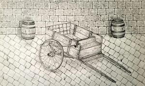 old cart - A malins sketch art.