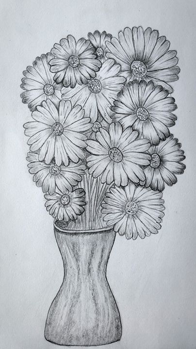 fresh flowers. - A malins sketch art.