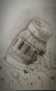 wheel hub - A malins sketch art.
