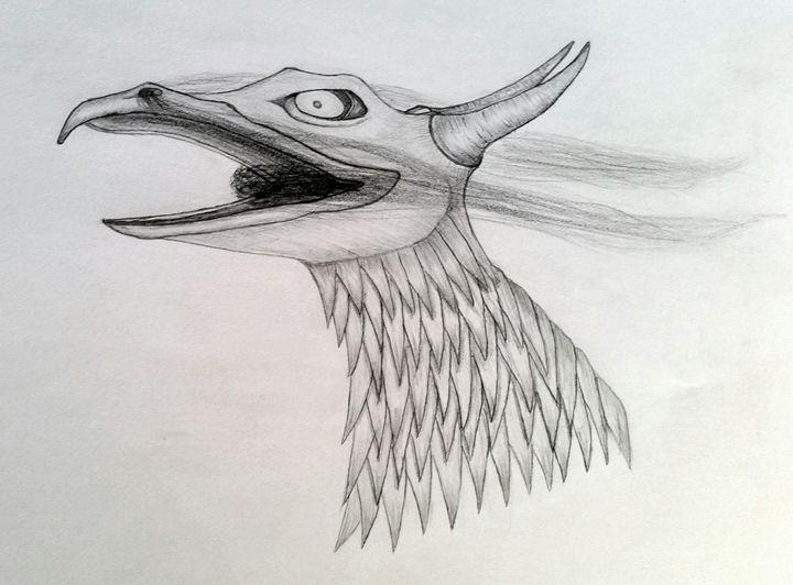 Baby dragon - A malins sketch art.