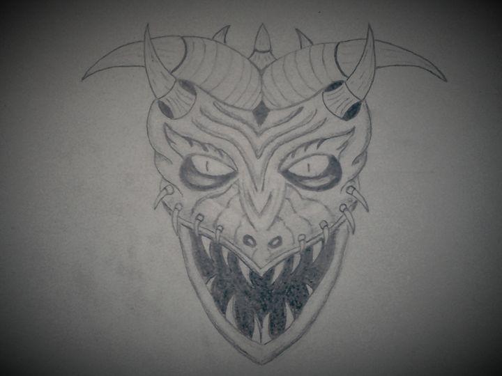 worrier of devil's gate. - A malins sketch art.