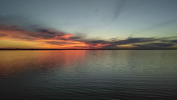 Colorful Sunset On The Lake. - Steve.Hayeslip