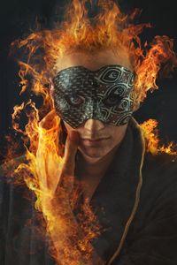 Masked phoenix man - Teodor Lazarev