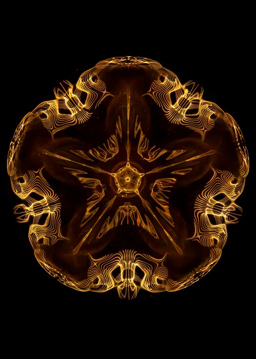 Fivefold Flower Pattern - Study of Cymatics