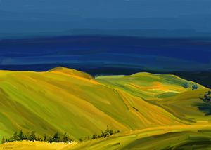 Yellow Balkan Hills