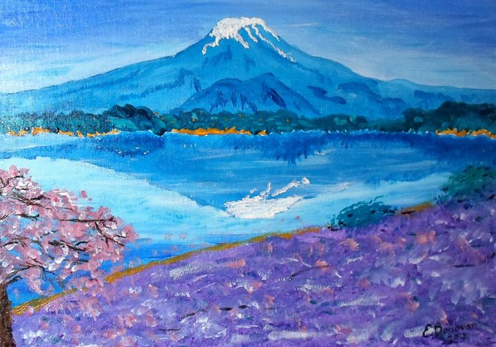 Blue Face of Mt. Fuji - Eliza Donovan