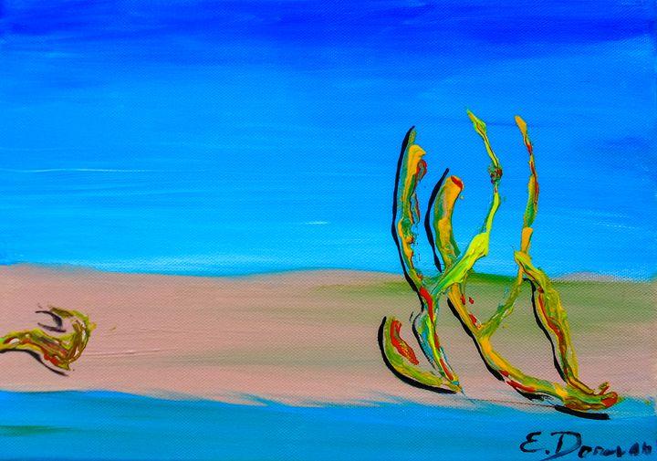 Empty Beach In Tel Aviv Abstract Sea - Eliza Donovan