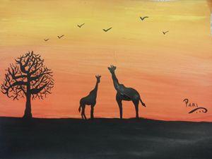 Giraffe @ sun set