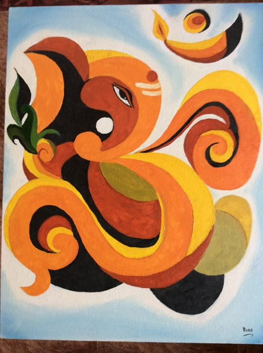 Omm  ganesha - Pari's painting