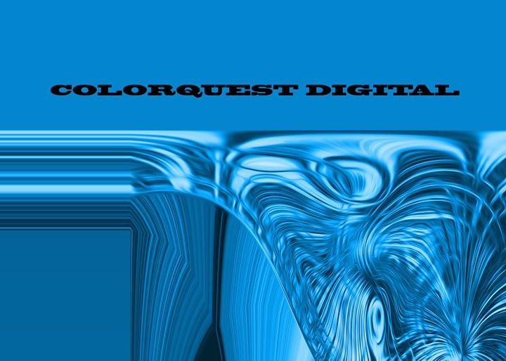 Warped Crystal Blue - Colorquest Digital