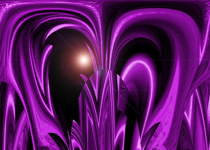 Purple Space Plant - Colorquest Digital